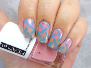 Weave me a gradient nail art