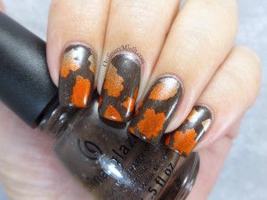 NAILLinkup April - leaves nail art