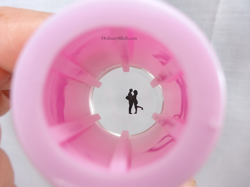 BornPrettyStore Clear stamper pink stamped reverse