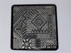 Bundle Monster Shangri la stamping plates BM-S109