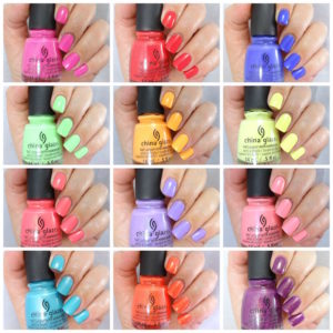 China Glaze - Lite Brites collage