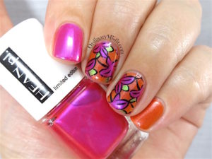 Hean Jungle pop nail art
