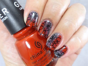 NAILLinkup July Wicked web nail art