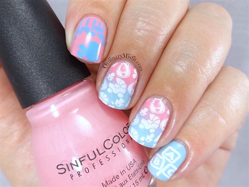 Baby nail art