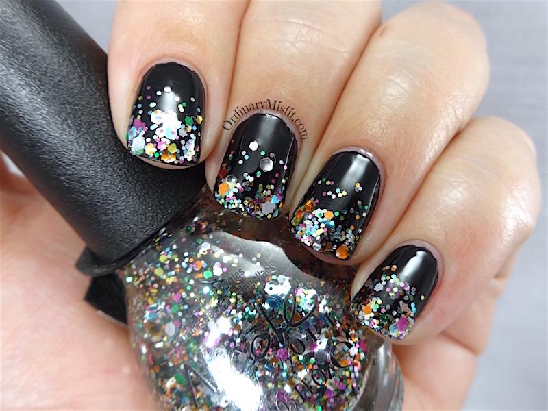 Black And Glitter Gradient Nail Art Ordinarymisfit