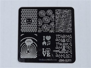 Bundle Monster Musik City stamping plates BM-S311