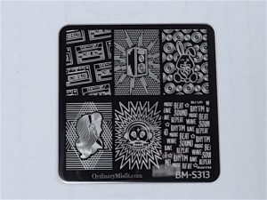 Bundle Monster Musik City stamping plates BM-S313