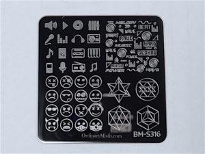 Bundle Monster Musik City stamping plates BM-S316