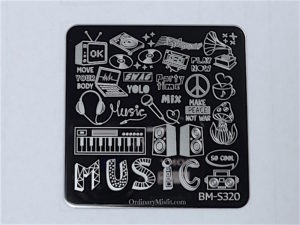 Bundle Monster Musik City stamping plates BM-S320