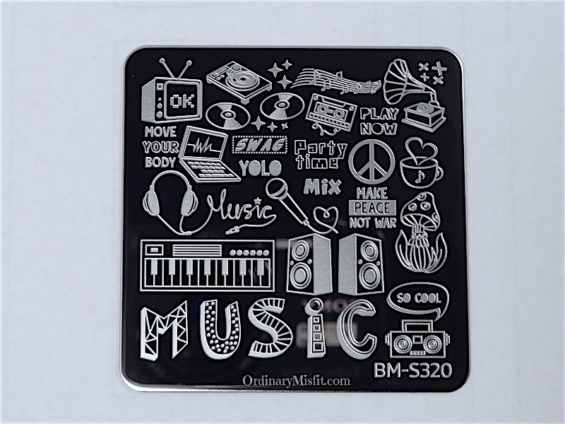Bundle Monster Musik City stamping plates  BM-S320