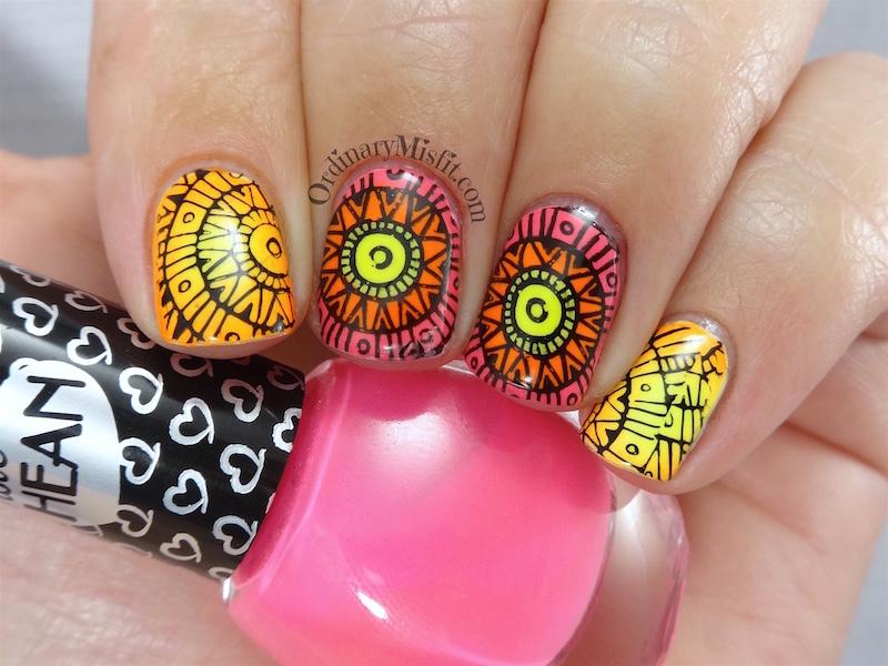 Bundle Monster Paisley flow stamping plates nail art