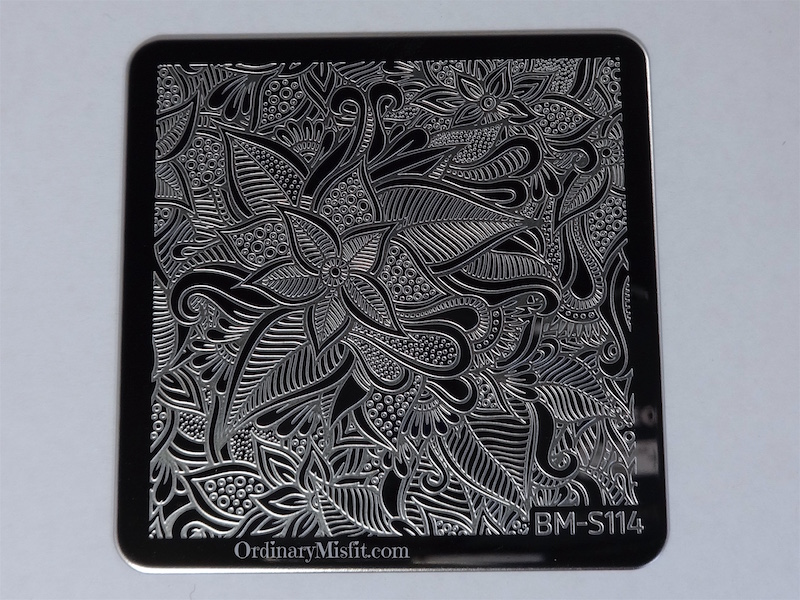 Bundle Monster Paisly Flow stamping plates BM-S114