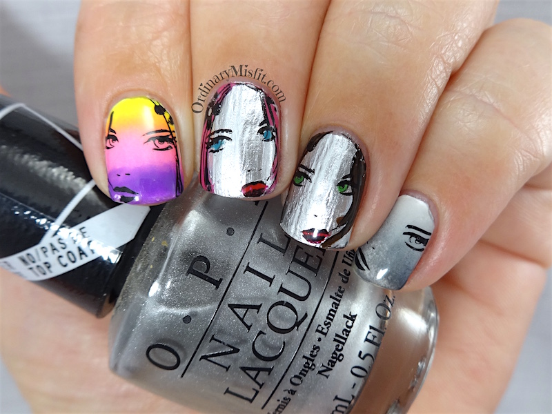 NAILLinkup Aug mirror mirror on the wall nail art