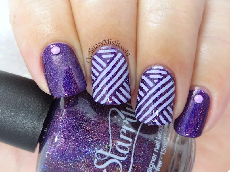 Starrily - Ultraviolet nail art
