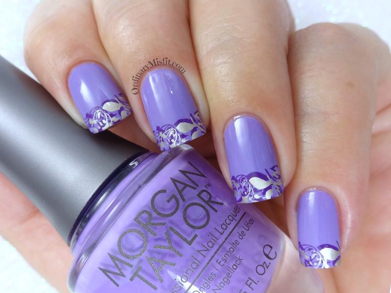 52 week nail art challenge - French nail art