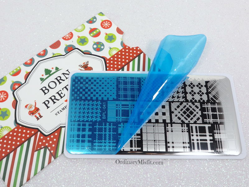 Born Pretty Store stamping plate review BPL-041 film off