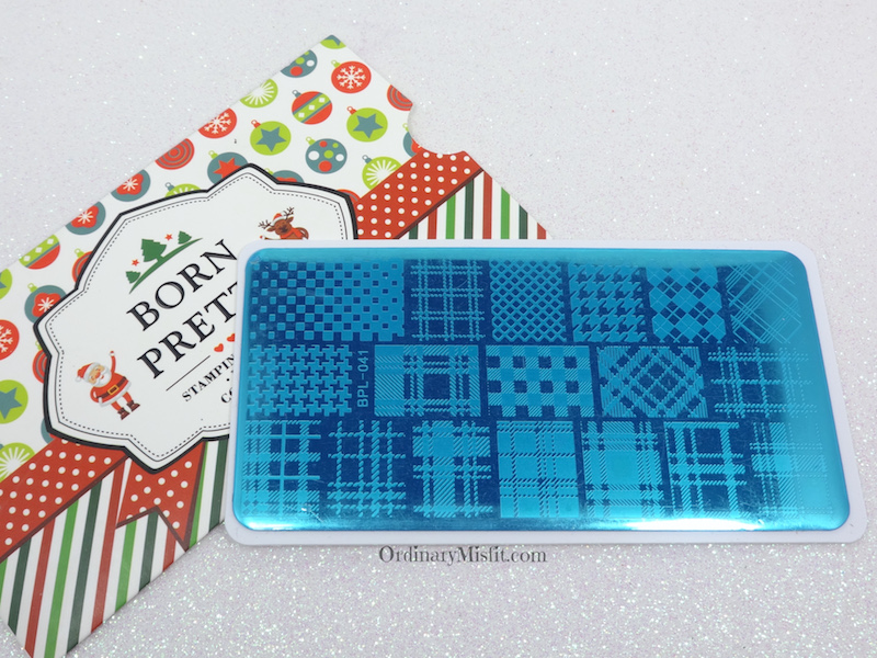Born Pretty Store stamping plate review BPL-041 with film
