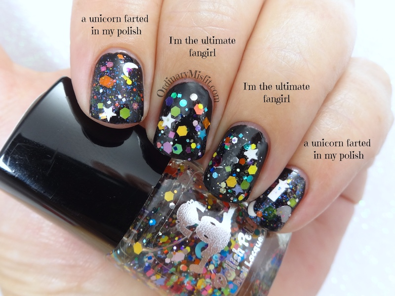 Comparison Dollish Polish - I'm the ultimate fangirl vs a unicorn farted in my polish