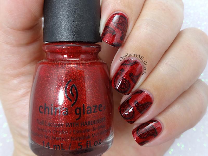 52 week nail art challenge - Red