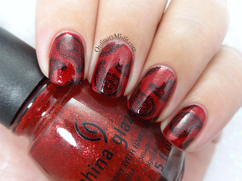 52 week nail art challenge - Red