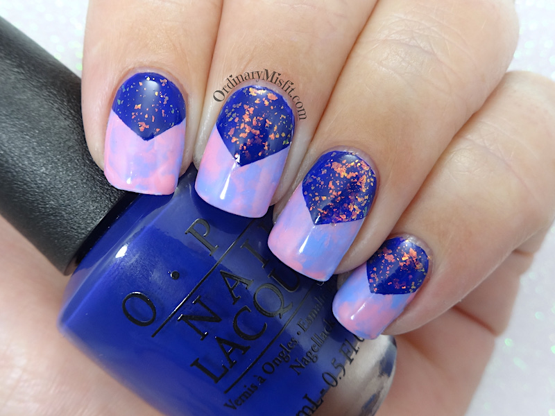 Galaxy smoosh nail art