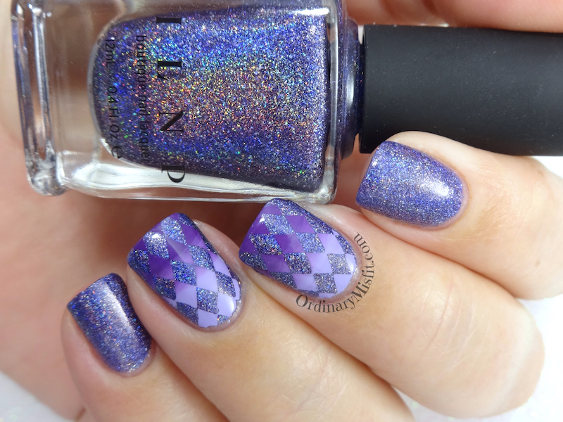 52 week nail art challenge - Purple 3