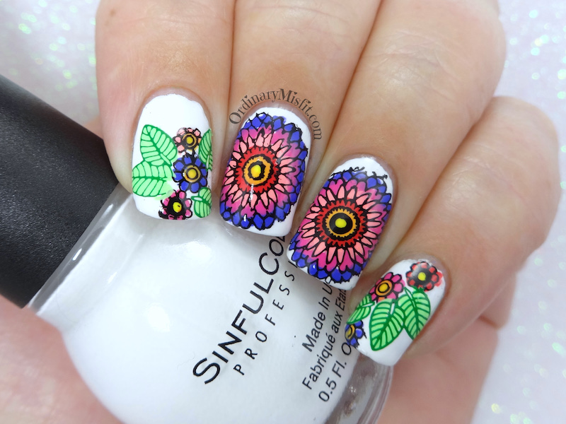 Born Pretty Store stamping plate review BP-L066 Flower nail art