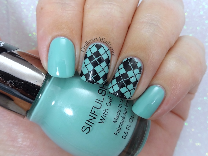 52 week nail art challenge - Inspired by a video tutorial