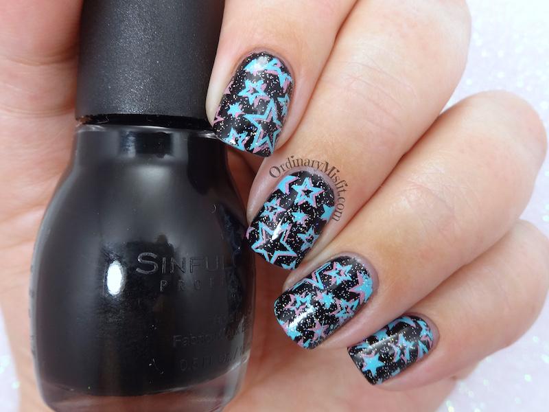 52 week nail art challenge - Stars