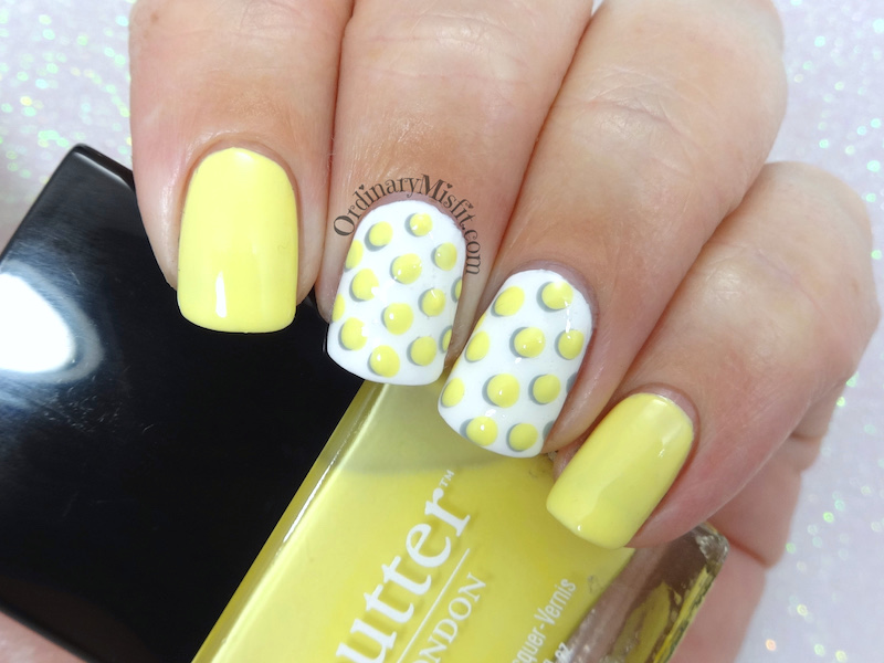 52 week nail art challenge - Yellow