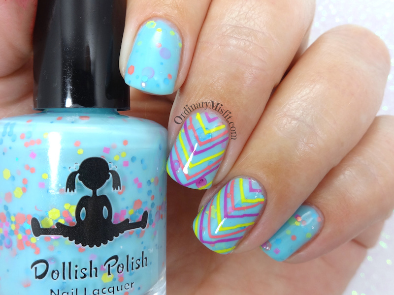 Dollish Polish - Brain freeze! nail art
