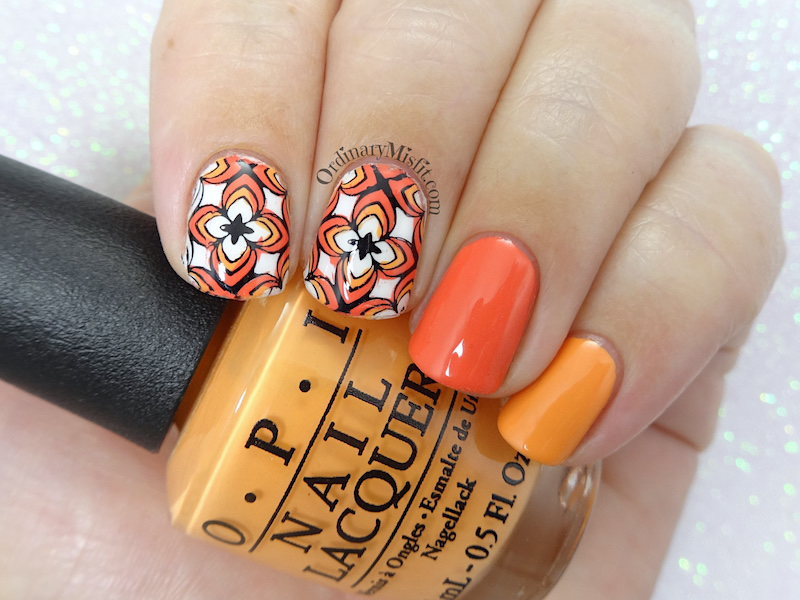 52 week nail art challenge - Orange