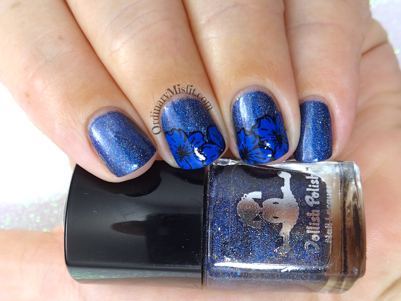 Blue on blue nail art