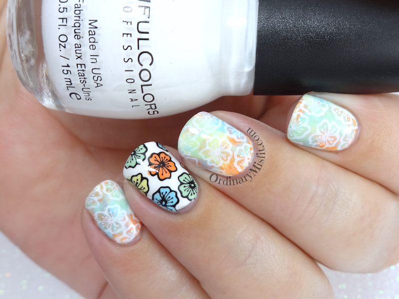 52 week nail art challenge - Flowers