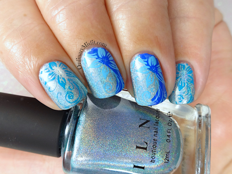 52 week nail art challenge - Blue