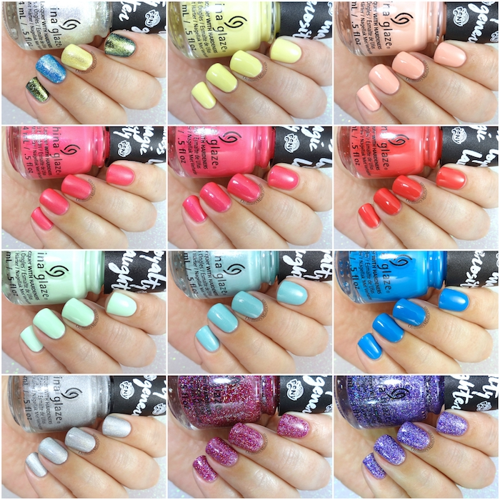 China Glaze - My Little Pony collection collage 2
