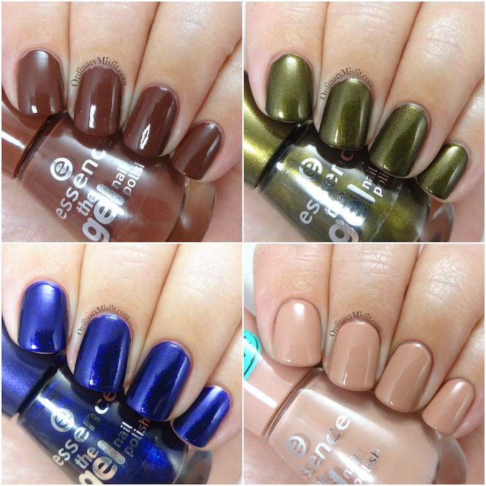 Essence range update The Gel nail polishes Collage