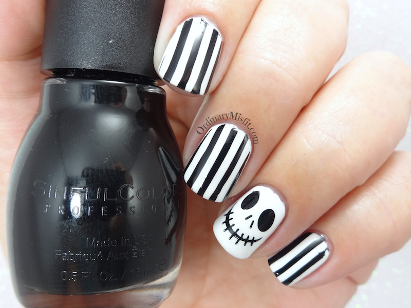 Jack Skellington Nail Art Ordinarymisfit