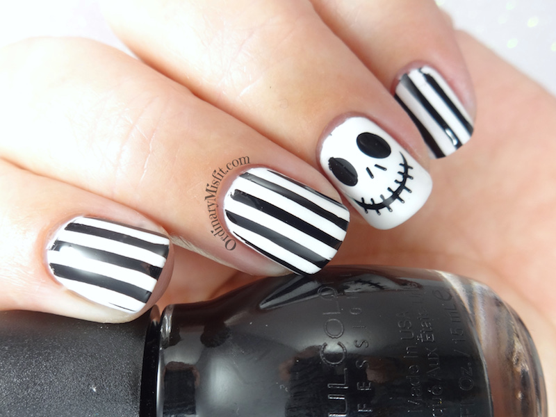 Jack Skellington nail art | OrdinaryMisfit