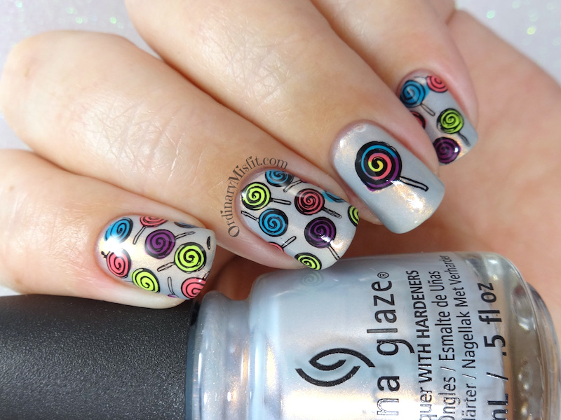 52 week nail art challenge - Candy
