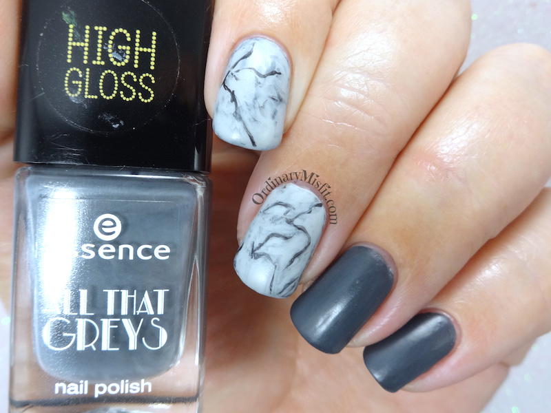 52 week nail art challenge - Grey