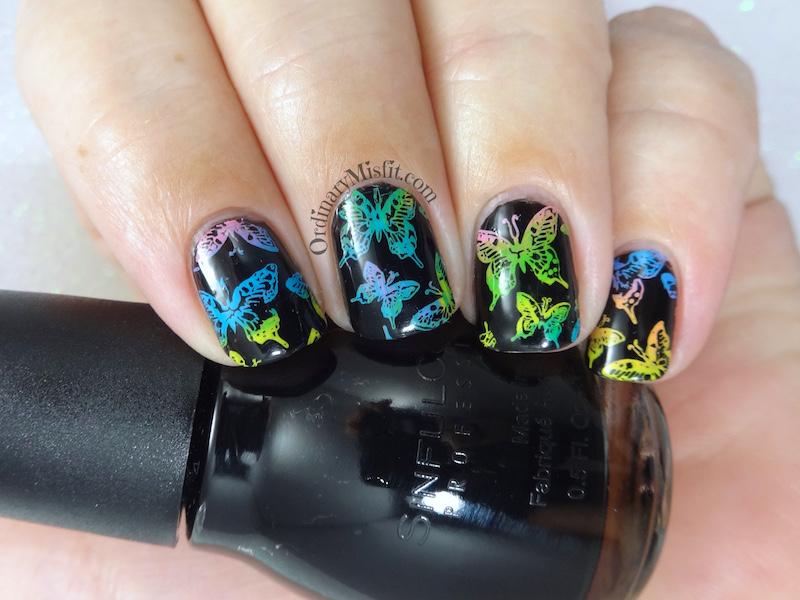 52 week nail art challenge - Neon