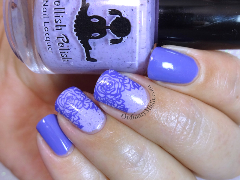 Purple swirly nail art