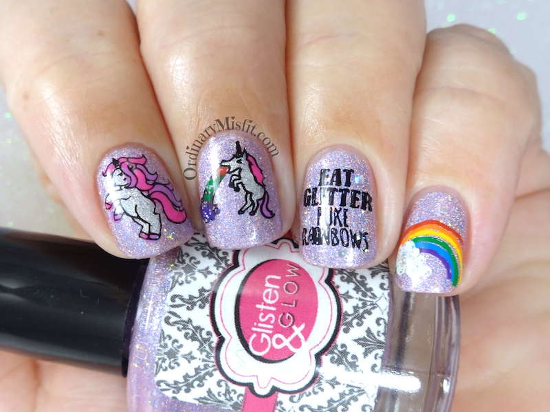 Secret Santa – Unicorn loving nail art 2 – OrdinaryMisfit