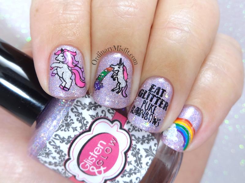 Secret Santa - Unicorn loving nail art