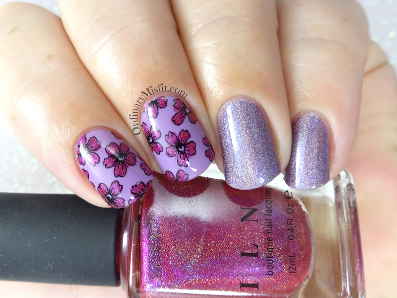 52 week nail art challenge – Week 1: Pink & purple | OrdinaryMisfit