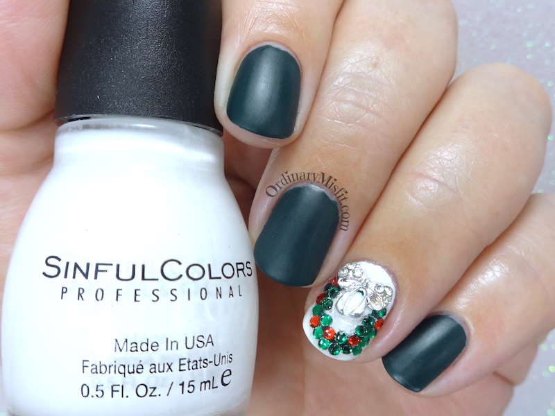 Christmas wreath nail art nailarts ideas ribbons wreaths christmas nail art ribbons wreaths christmas prinsesfo Image collections