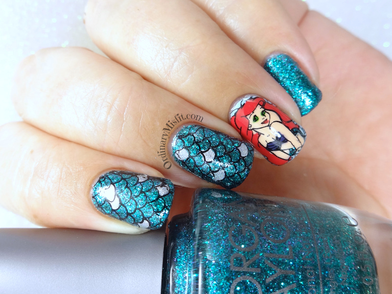 52WeekNailChallenge - Week 4 - Mermaids