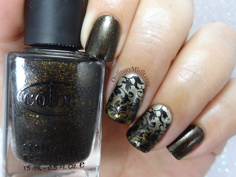 Gold and black nail art | OrdinaryMisfit