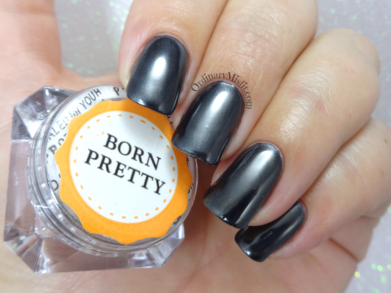 Born Pretty Store Black Chrome pigment powder